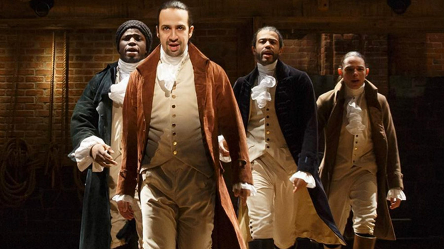 Lin-Manuel Miranda and cast of Hamilton