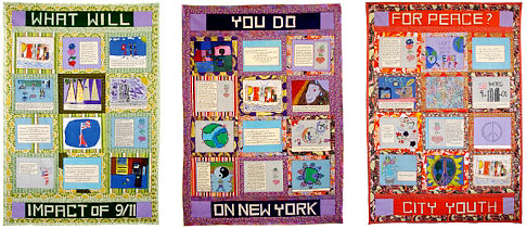 Artist Faith Rinngold and New York children, ages 8-10, created the 9/11 Peace Story Quilt, 2006
